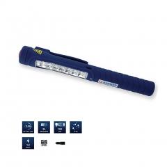 BERNER kétfunkciós led lámpa, 7-1 LED, micro USB, toll méret