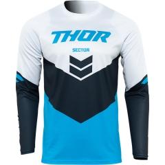 THOR Sector Chevron cross póló fehér-kék
