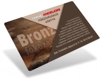 RMC Motor TÖRZSVÁSÁRLÓI KÁRTYA bronz fokozat