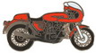Jelvény Ducati 900 SS Királytengelyes piros