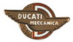 Jelvény Ducati Meccanica  embléma ezüst