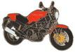Jelvény Ducati Monster piros