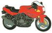 Jelvény Ducati 600 SS piros