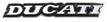 Jelvény Ducati felirat fekete/fehér