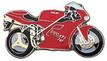Jelvény Ducati 750 piros
