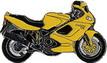 Jelvény Ducati ST4 sárga