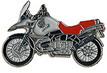 Jelvény BMW GS1150 ezüst-piros