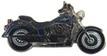Jelvény Harley-Davidson Fat Boy 1340 kék