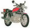 Jelvény Honda CBX 6 Zylinder Piros