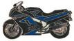 Jelvény Kawasaki ZZR1100  kék-fekete