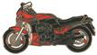 Jelvény Kawasaki GPZ 900R piros/fekete