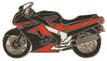 Jelvény Kawasaki ZZR1100 piros/fekete
