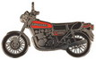 Jelvény Kawasaki Z1000 sötétpiros