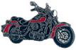 Jelvény Kawasaki VN1500 ´96 piros/fekete