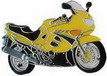 Jelvény Suzuki GSX600F ´02 sárga