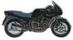 Jelvény Yamaha XJ600 Diversion zöld