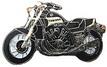 Jelvény Yamaha V-Max  fekete