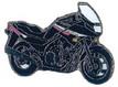 Jelvény Yamaha XJ900 Diversion fekete