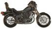 Jelvény Yamaha XV1100 fekete